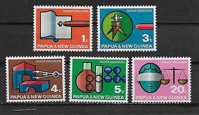 Papua & New Guinea , 1967 , Higher Education , Set Of 5  Stamps ,  Perf, Mnh