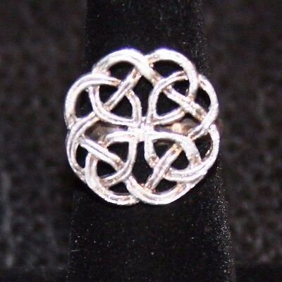 Celtic Knot Sterling Silver Ring Size 6