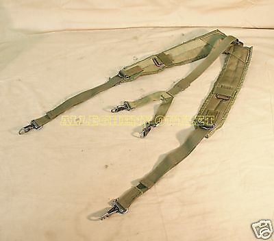 US Military Alice Y SUSPENDERS LBE Load Bearing Shoulder Web Harness OD Fair