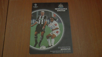 NEWCASTLE UNITED v JUVENTUS UEFA CHAMPIONS LEAGUE PROGRAMME 23.10.2002
