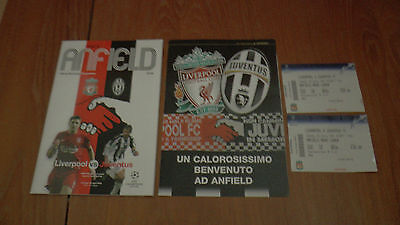 LIVERPOOL v JUVENTUS UEFA CHAMPIONS LEAGUE PROGRAMME 2005 +2x Tickets + Brochure