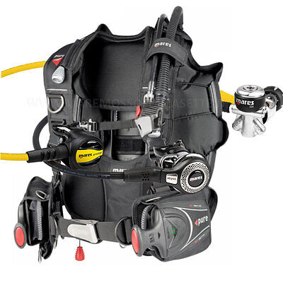 Diving Equipment Mares Package Bcd Pure Size Medium Yoke Regulator Abyss