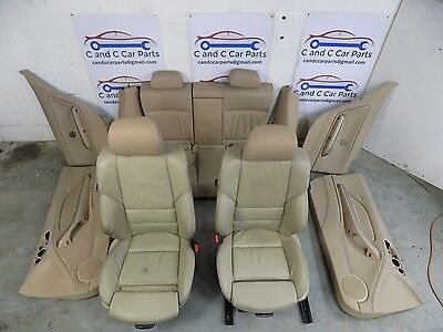 BMW E46 Coupe M Sport Beige electric memory  seats interior / door cards