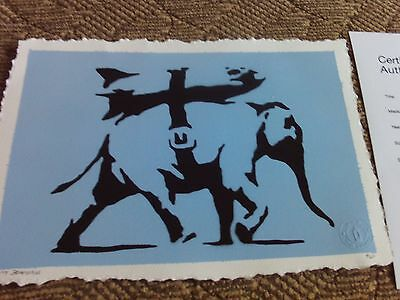 banksy artwork by not banksy full coa ltd to 25 long sold out