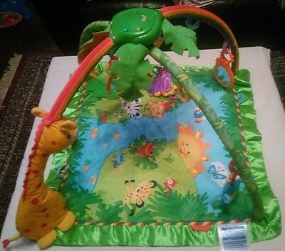 Fisher Price Deluxe Rainforest Melodies & Lights Gym/Playmat