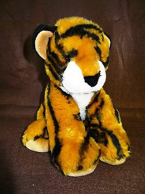 """10"""" ANIMAL ALLEY  Toys R Us Striped TIGER CAT Plush Stuffed ZOO Animal VERY SOFT"""