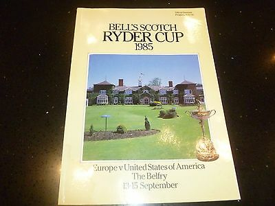 Ryder Cup 1985 official programme