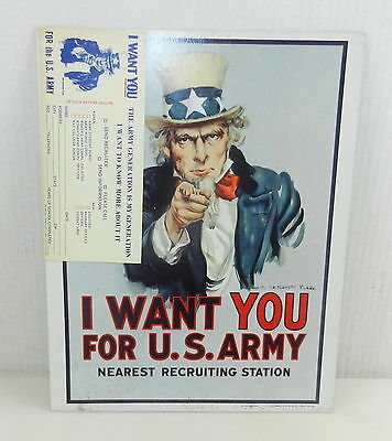 """UNCLE SAM """"I Want You For U.S. ARMY"""" Poster 1968 James Montgomery FLAGG w/ Card"""