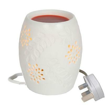 White Floral Electric Wax Burner Great For Yankee Candles
