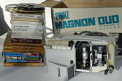 8mm adult film collection & PRINZ Magnon Duo Standard8/Super8 8mm film projector