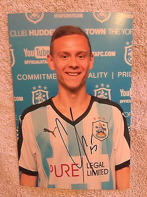SIGNED HUDDERSFIELD TOWN FC CHRIS LOEWE LOWE PHOTOGRAPH Championship Promotion