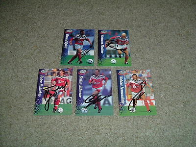 Hamburger Sv - Germany - Collection Of 5 Signed Panini 1995 Trade Cards