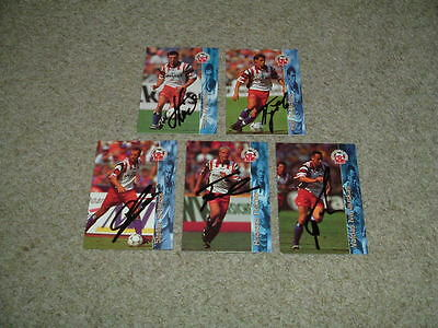 Hamburger Sv - Germany - Collection Of 5 Signed Panini 1996 Trade Cards