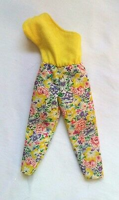 1987 VINTAGE Barbie Doll Clothing Mattel  #4122 Pretty Choices Yellow Jumpsuit