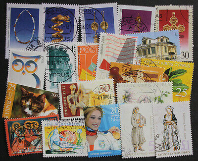 Cyprus 1997-2007 Nice Range of 20 Used Stamps with Values to £1