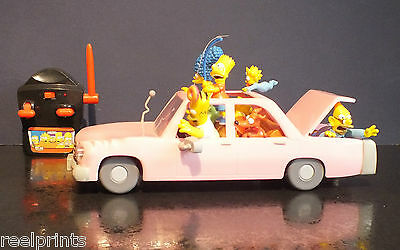 The Simpsons R/c Toy Car Homer Marge Bart Lisa Maggie & Grandpa Rare Collectable