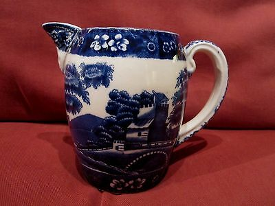 Beautiful Antique Early 1900's Spode Blue And White Tower Pattern Decorative Jug