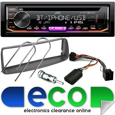Peugeot 206 JVC CD MP3 USB AUX Bluetooth Car Stereo & Steering Wheel Fitting Kit