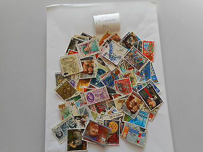 100 used postage stamps GREAT BRITAIN  commems pk 1 no doubles
