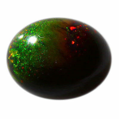 1.40 Cts_Stunning Loose Gemstone_100 % Natural Multi-Color Play Black Opal !!