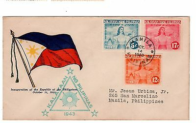 Japanese Occupation, Philippines, First Day Cover (FDC), Independence of the Phi