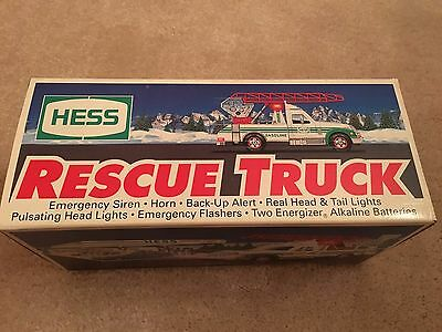 TWO 1994 HESS TOY TRUCKs - RESCUE TRUCK - BOTH NEW IN BOX w/ COUPONS & RECEIPT