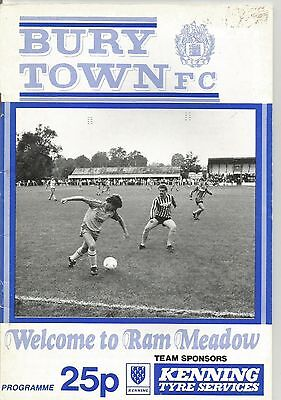 NON LEAGUE -  BURY TOWN v COLCHESTER UNITED RESERVES