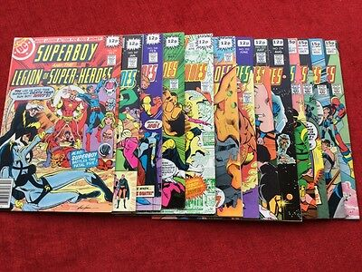 Superboy and the Legion of Super-Heroes #246 --258. ( 13 VF. Comics ).