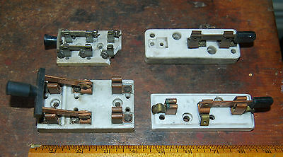 Group Of Four Vintage Knife Switches Trumbull Leviton Other Porcelain Copper