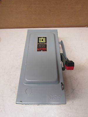 Square D H361 30A Fusible Safety Switch Disconnect Series E1 600V