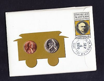 USA 1970 First Day Issue Rare Coin Cover with Stamp