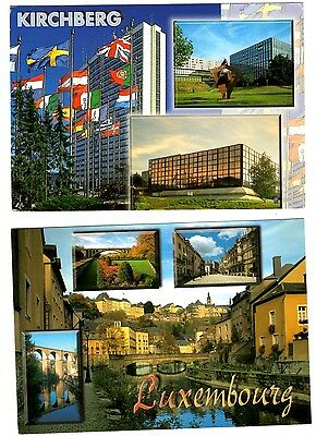 2 new postcards from LUXEMBOURG - Kirchberg (E1)