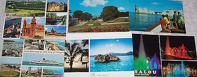 6 unused postcards from DIFFERENT COUNTRIES - UK - LITHUANIA - MAURITIUS etc (A)