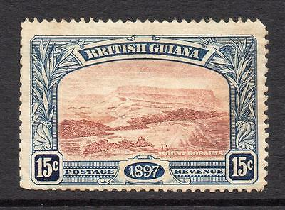 British Guiana 15 Cent Stamp c1898 Mounted Mint (toned gum)