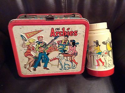 Vintage Tin Lunch Box The Archies With Thermos No Cup
