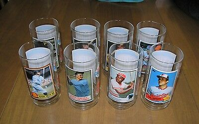 8 Vintage Mcdonald's Mlb All Time Greatest Team Collector Glasses