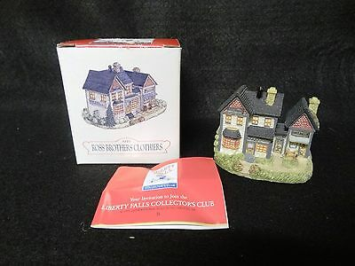 LIBERTY FALLS 1993 Americana Christmas Village ROSS BROTHERS CLOTHIERS House
