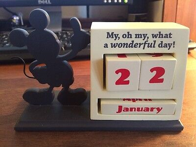 Hallmark Disney Mickey Mouse Silhouette Perpetual Calendar New without box