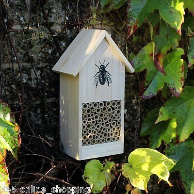 Large Insect Wooden Hotel Insect Nest Home Bee Keeping Bug Garden Pollination
