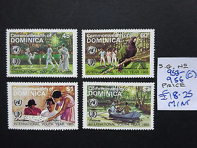 Dominica SG 953-956 1985 International Youth Year  MNH