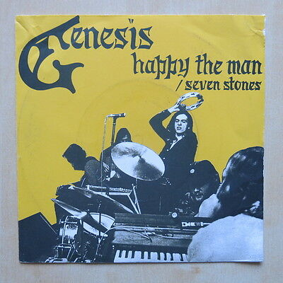 """GENESIS Happy The Man / Seven Stones UK 7"""" in picture sleeve Charisma CB 181"""