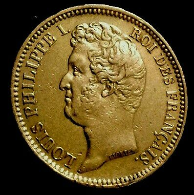 20 francs or Louis Philippe 1831 B tranche relief ttb+