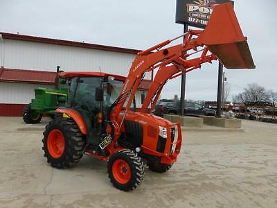 2015 Kubota L6060 Mfwd Cab Tractor With Loader 488 Hours Hydro Transmission