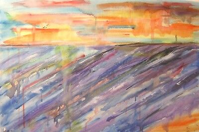SEA large painting oil original canvas signed modern abstract wall art seascape