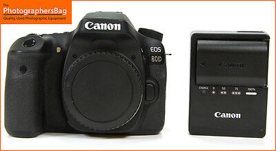Canon EOS 80D Digital SLR Camera Body  Battery Charger Free UK Post