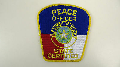 Peace Officer, State Certified, Texas, Police Dept Patch