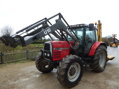 Massey Ferguson 6190 4Wd Loader Tractor 1998 130 Hp With 2011 Chilton Loader