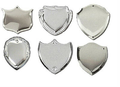 Embossed Silver Trophy Shields Unlimited Engraving Plates Award Cartouche