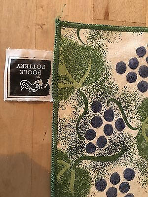 POOLE POTTERY NAPKINS X 6 with Classic Grapes Design.