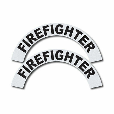 3M Reflective Fire/Rescue/EMS Helmet Crescents Decal set - Firefighter